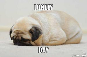 lonely-pug-meme-generator-lonely-day-b27511